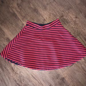 GAP red&blue striped skirt